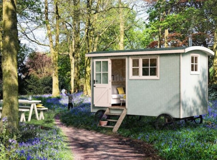 The Tregothnan Shepherds Hut In Coombe