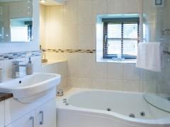 Soak in the jacuzzi bath