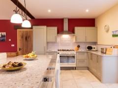 Granite tops and range oven