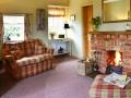 cosey open fire in lounge