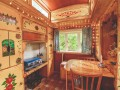 Red Showman's Caravan  At Walcot Hall