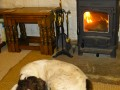 Ben by the wood burner!