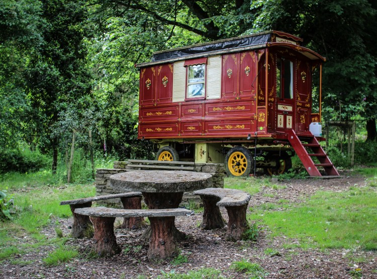 Gypsy Caravan At Walcot Hall