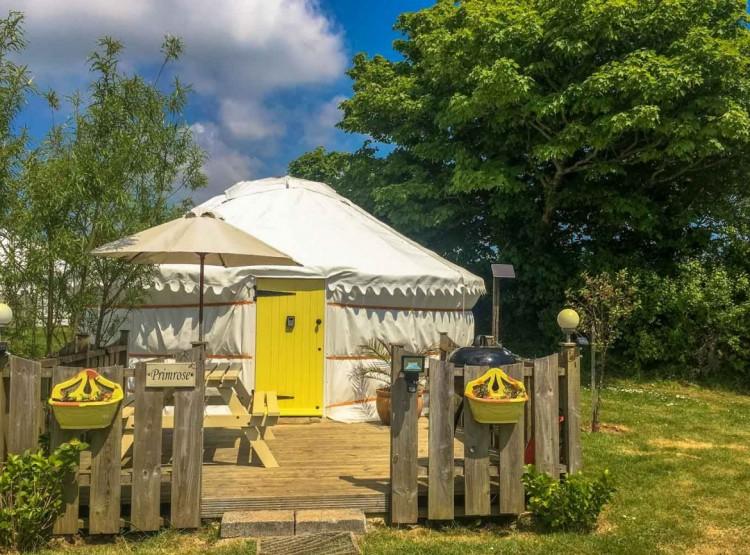 Primrose Yurt In Perranporth