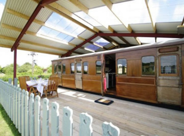 Victorian Railway Carriage At Coppins Farm