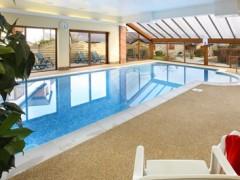 The indoor heated pool