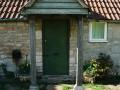 The cottage front door