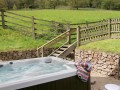 Orchard Barn's private hot tub